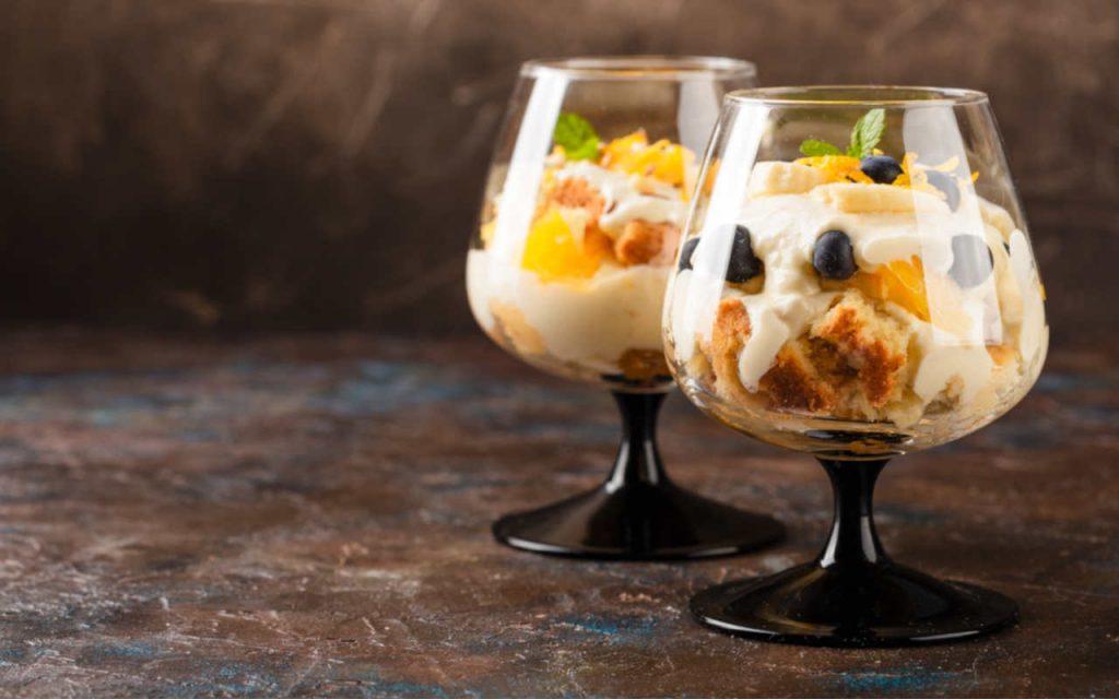ricetta coppa pandoro con crema di ricotta