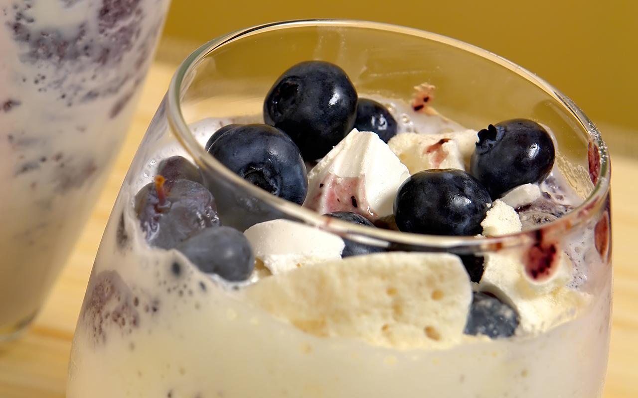 ricetta dessert ricotta ai mirtilli