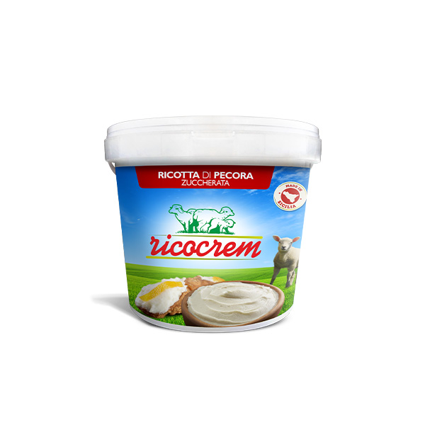 secchiello ricocrem crema di ricotta per pasticceria dolce surgelata