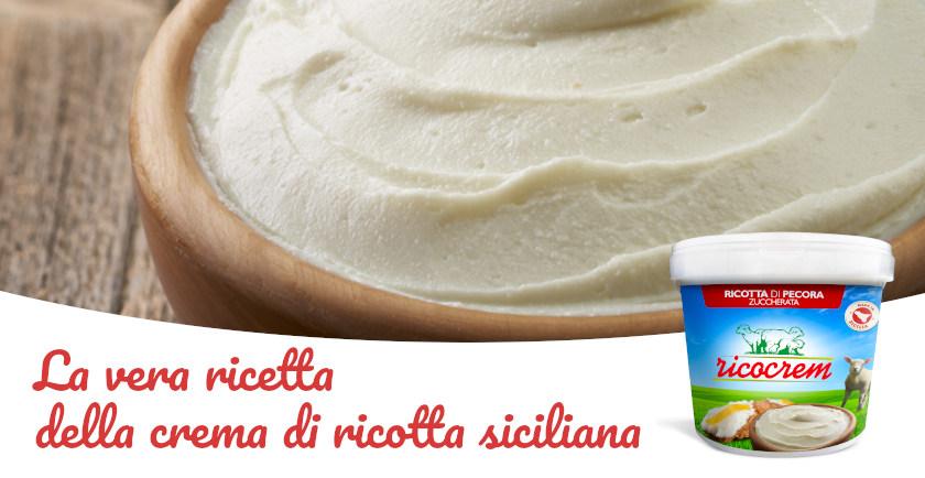 ricetta crema di ricotta siciliana