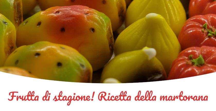 ricetta frutta martorana con pasta di mandorla